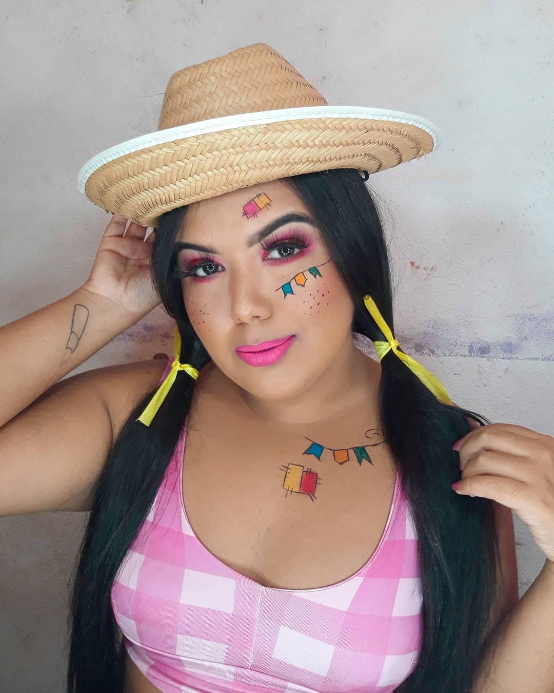 maquiagem de festa junina 36
