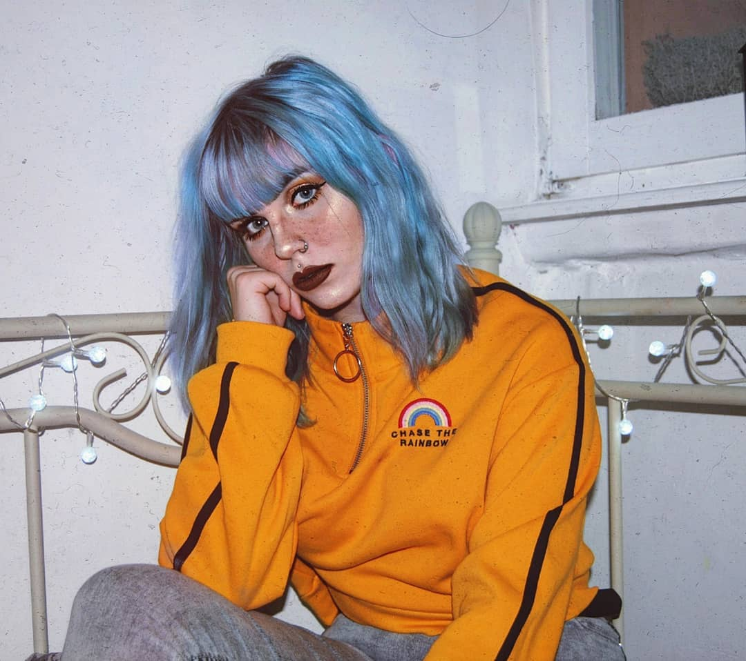 cabelo azul 40