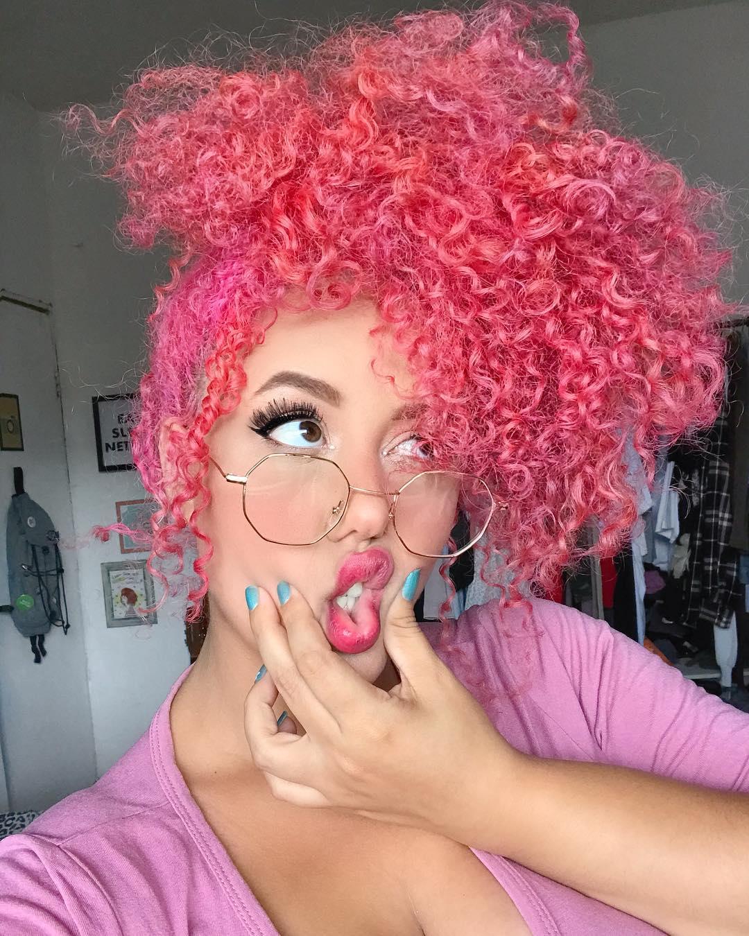 cabelo rosa 40