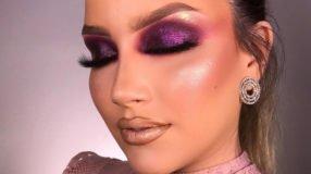 Maquiagem roxa 1