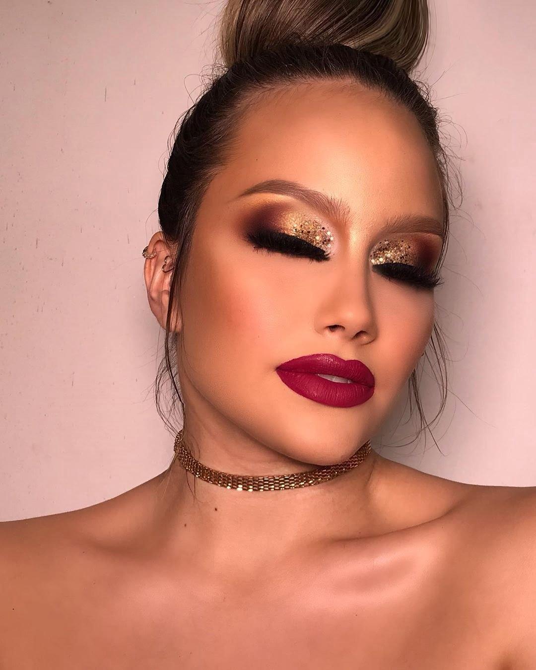 40 inspirações de maquiagem com glitter para brilhar em qualquer ocasião - 3