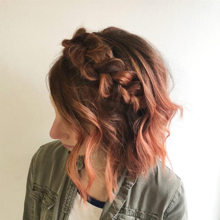 Penteados com trança 26