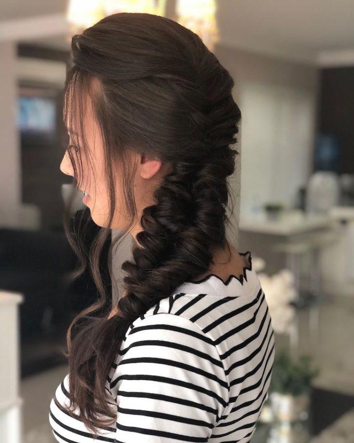 Penteados com trança 40