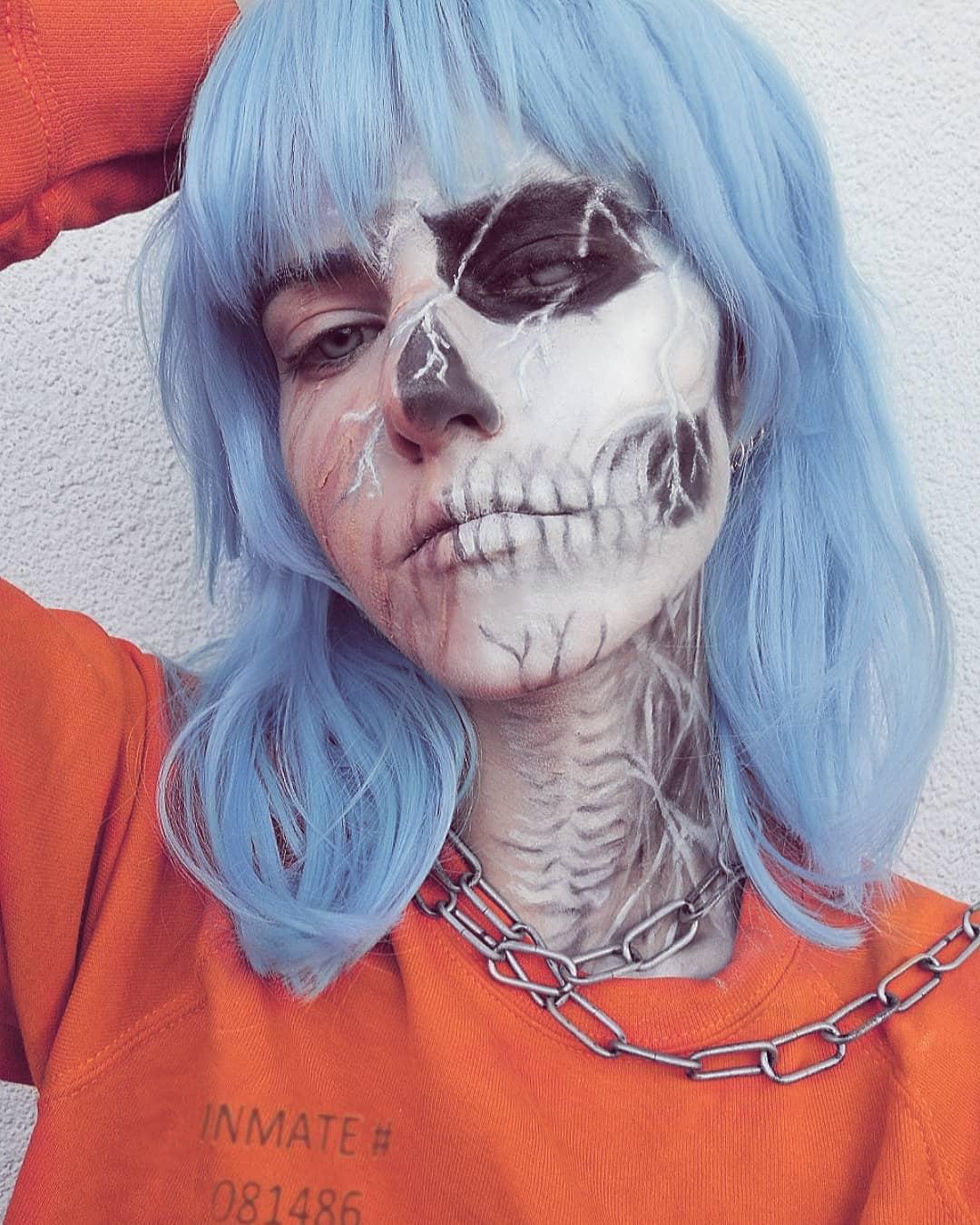 maquiagem de Halloween 80