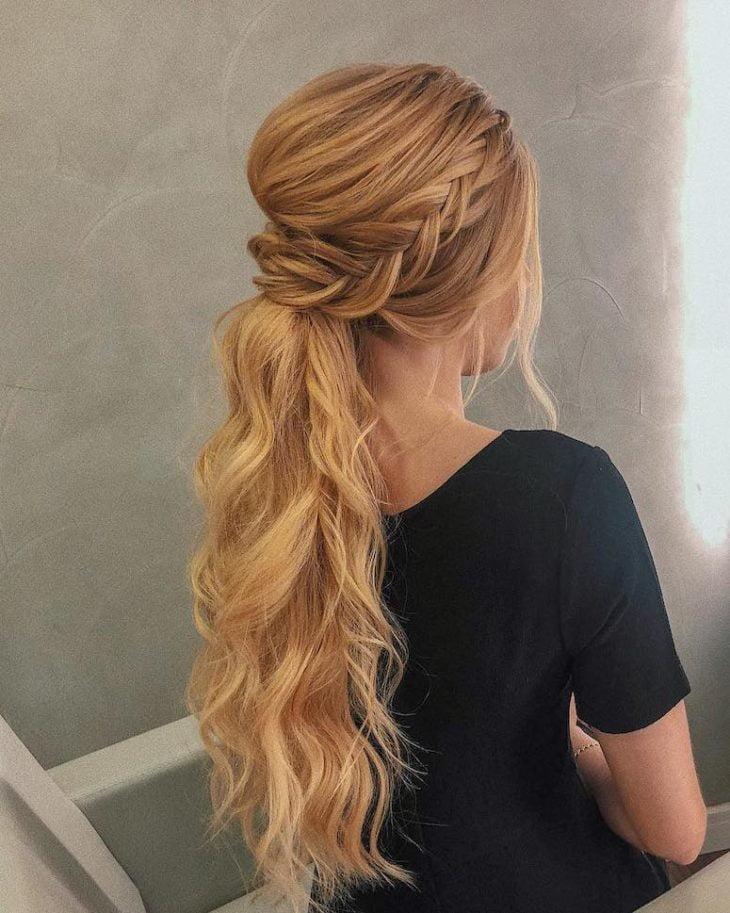 penteados para cabelos longos 80