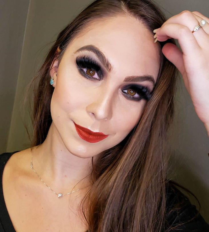 maquiagem com batom vermelho 5