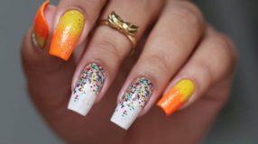 Unhas com glitter: 45 maneiras de arrasar no visual