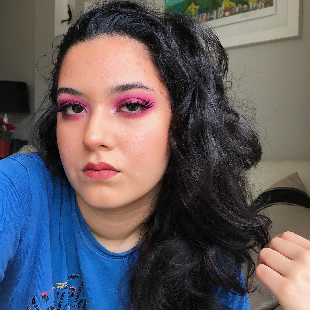 maquiagem rosa 40