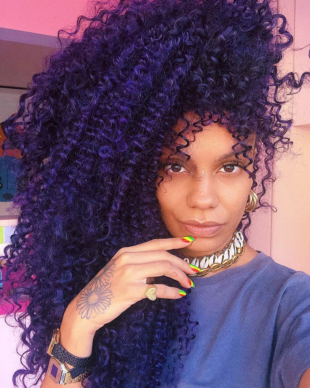 cabelo cacheado colorido 5