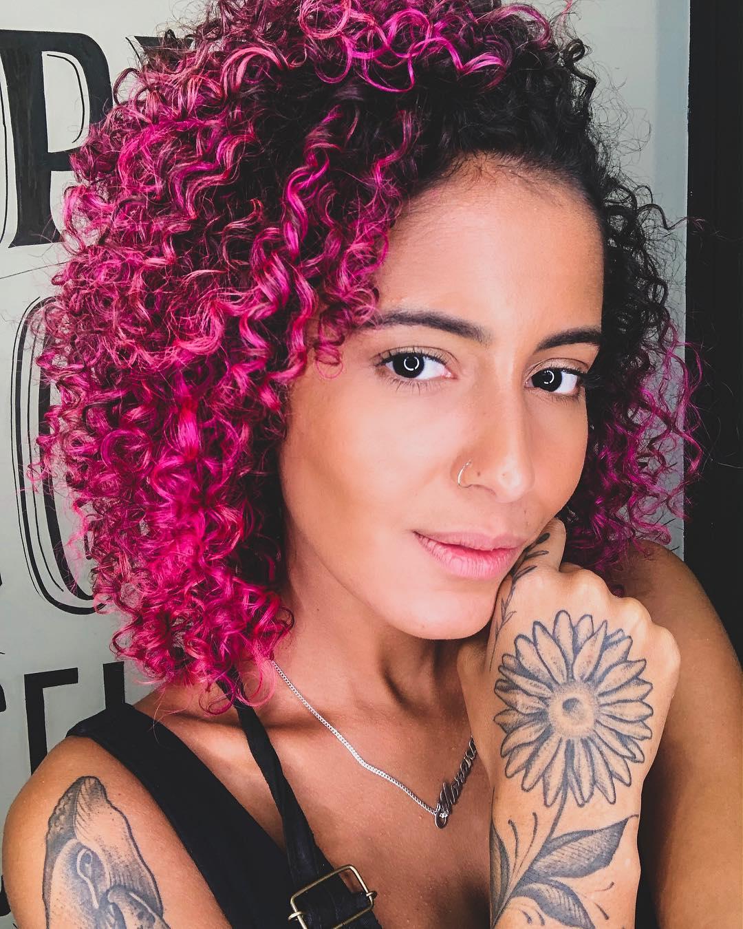 cabelo cacheado colorido 12
