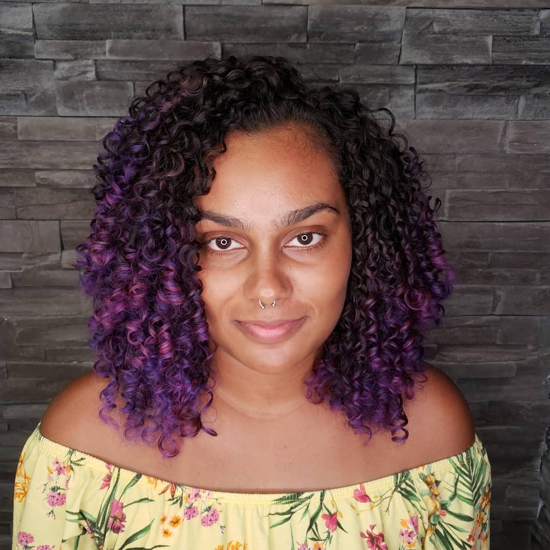 cabelo cacheado colorido 7