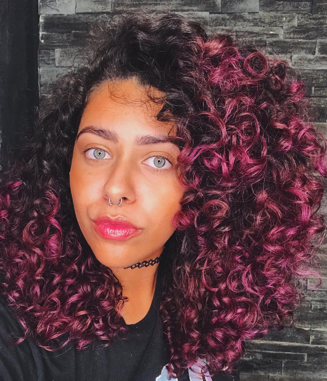 cabelo cacheado colorido 36