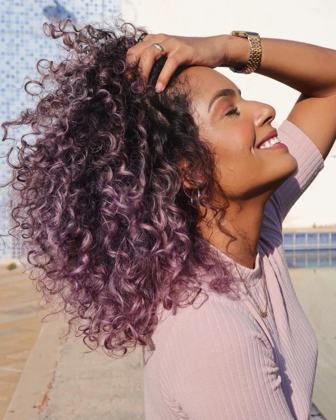 cabelo cacheado colorido 34