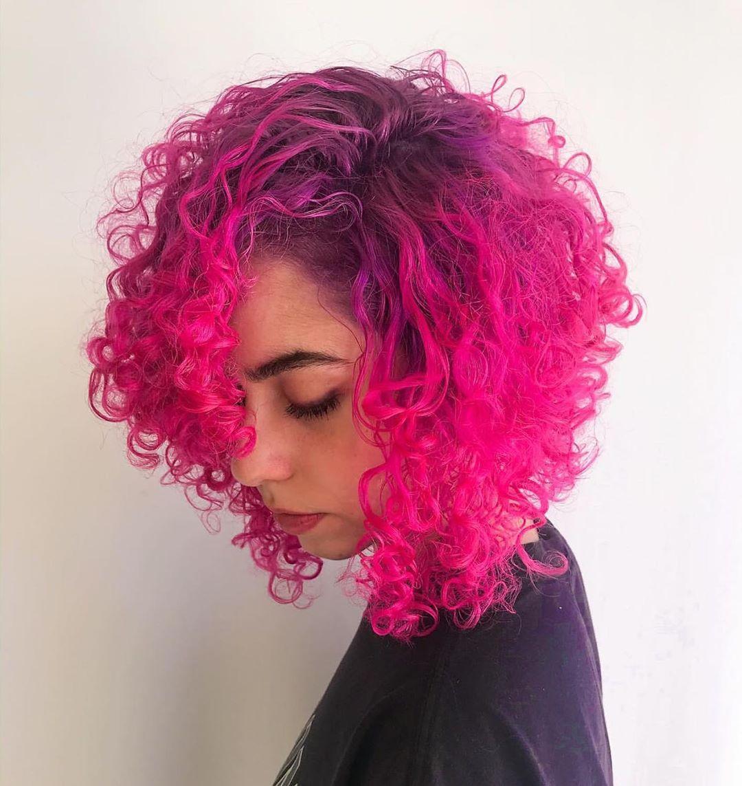 cabelo cacheado colorido 38