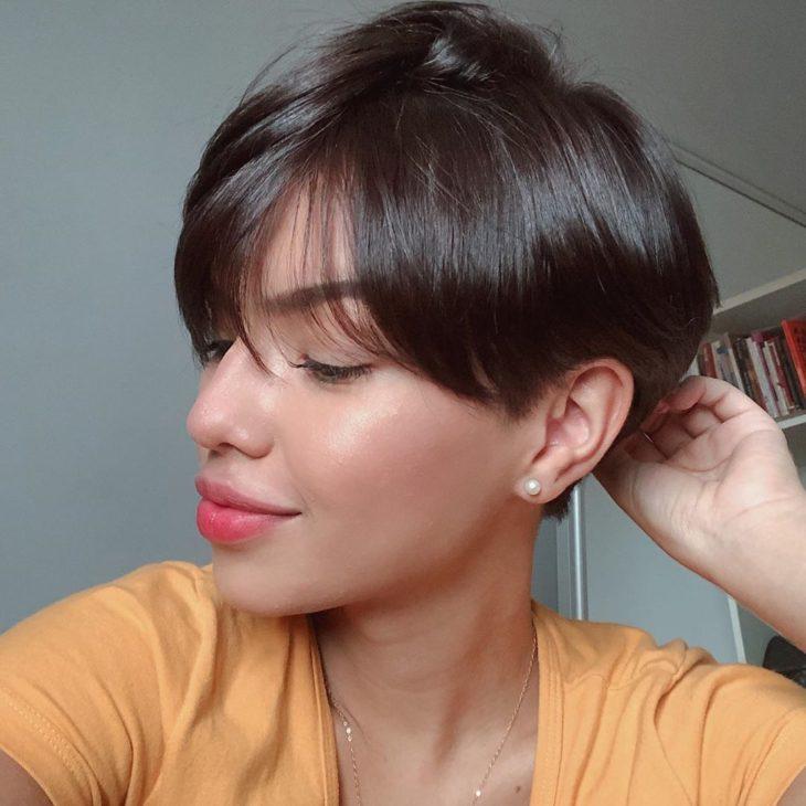 cabelo curto com franja 9