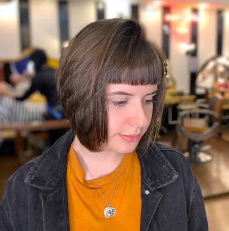 cabelo curto com franja 30