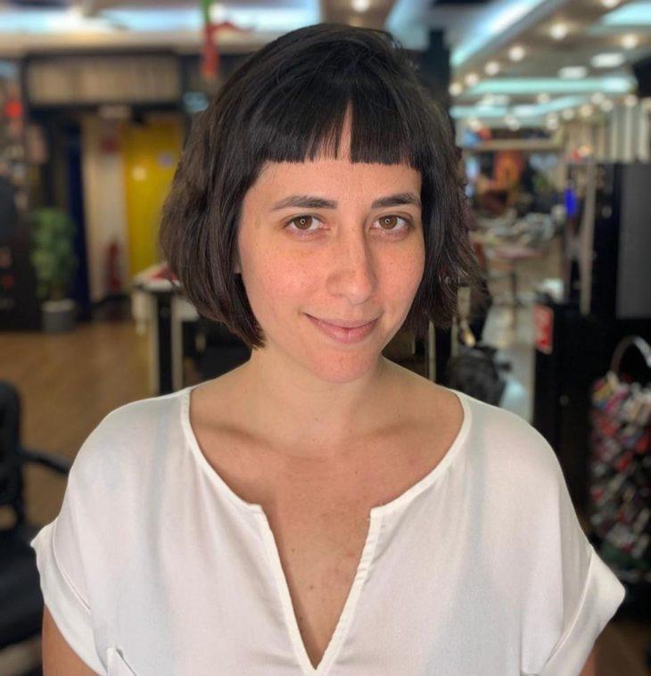 cabelo curto com franja 39