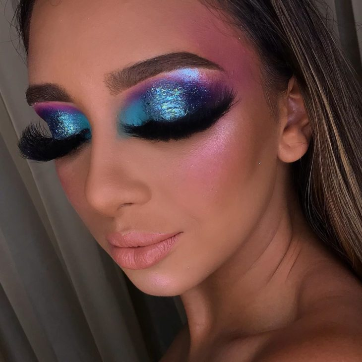 maquiagem azul 3