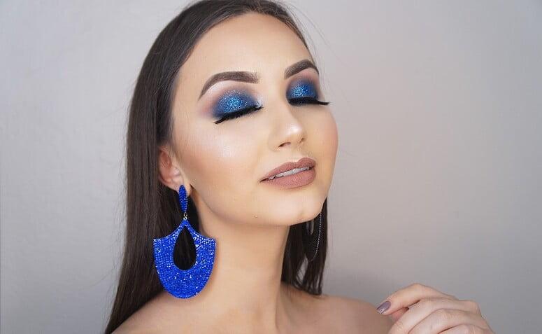 maquiagem azul 1
