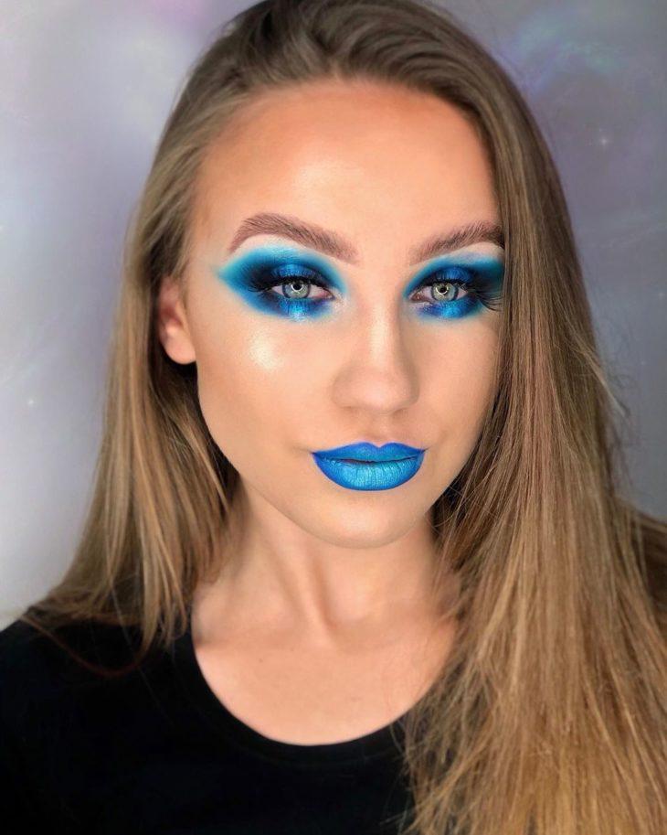 maquiagem azul 13