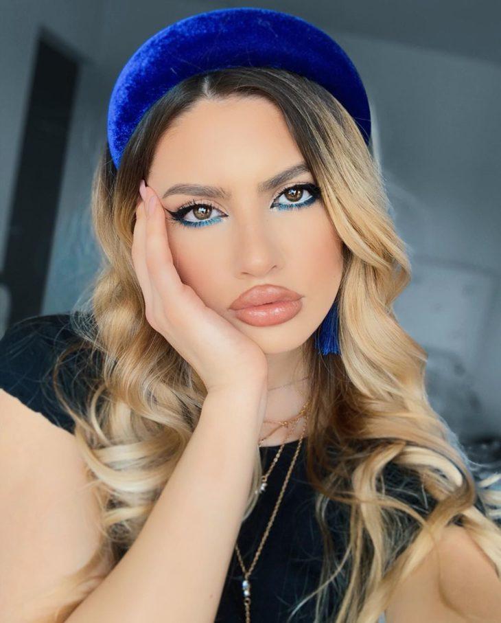 maquiagem azul 16