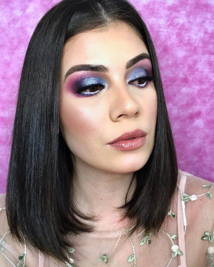 maquiagem azul 17