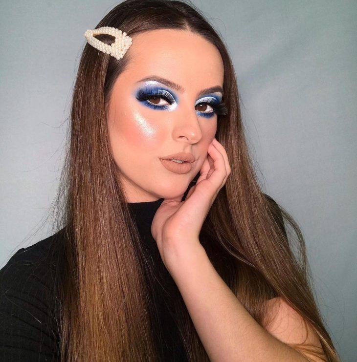 maquiagem azul 23