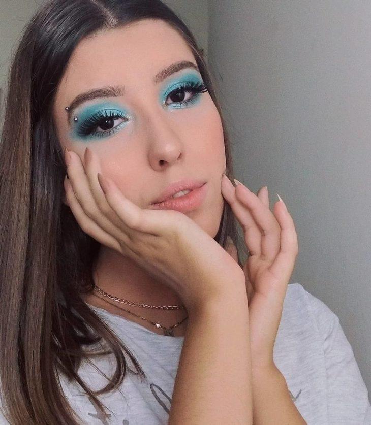 maquiagem azul 29
