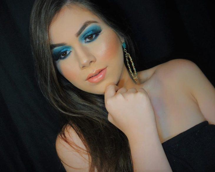 maquiagem azul 30