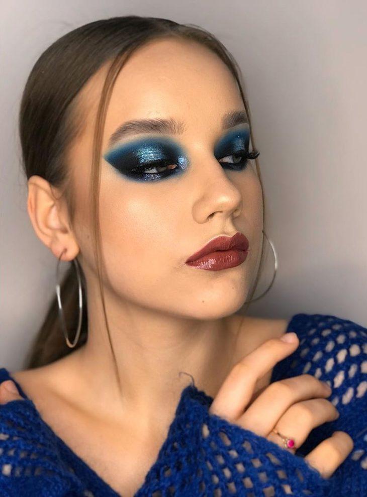 maquiagem azul 33