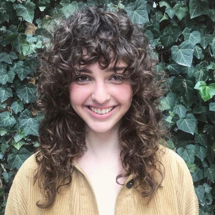 cabelo cacheado com franja 3