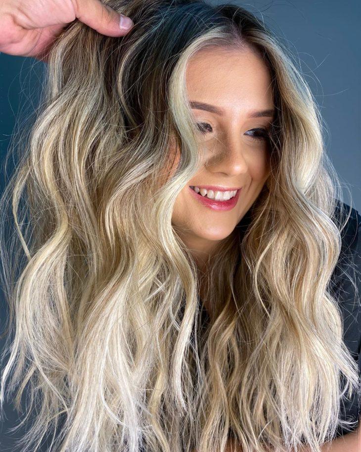 ombré hair platinado 5