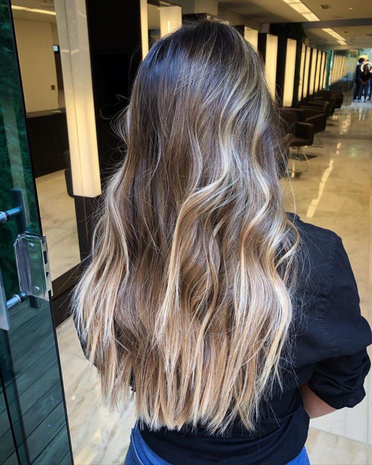 ombré hair platinado 16