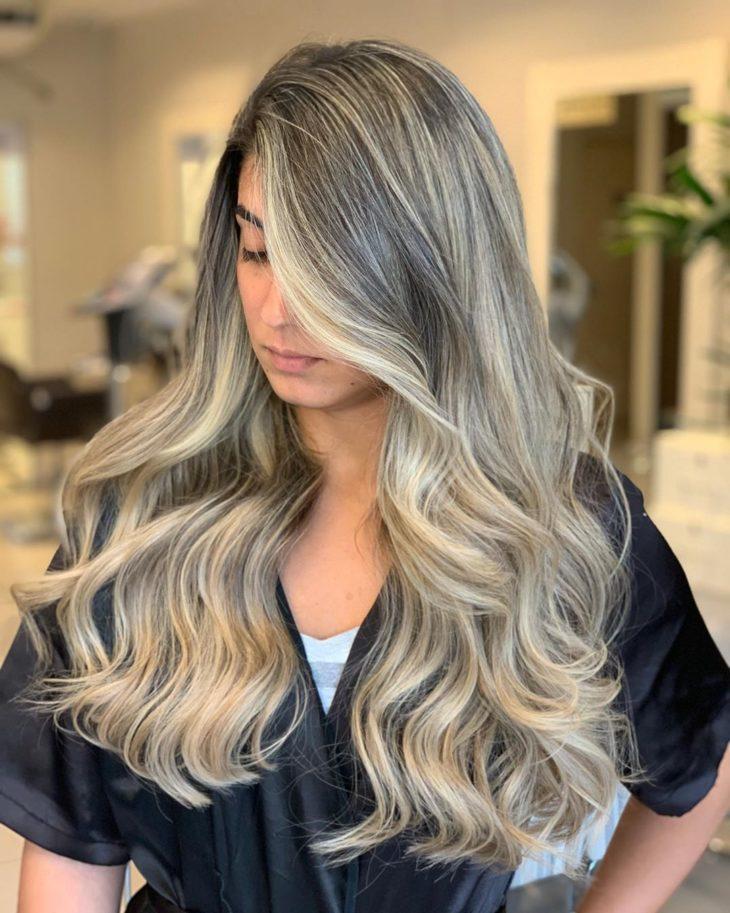 ombré hair platinado 36