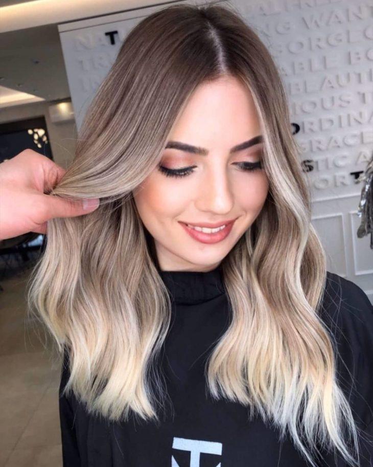 ombré hair platinado 38