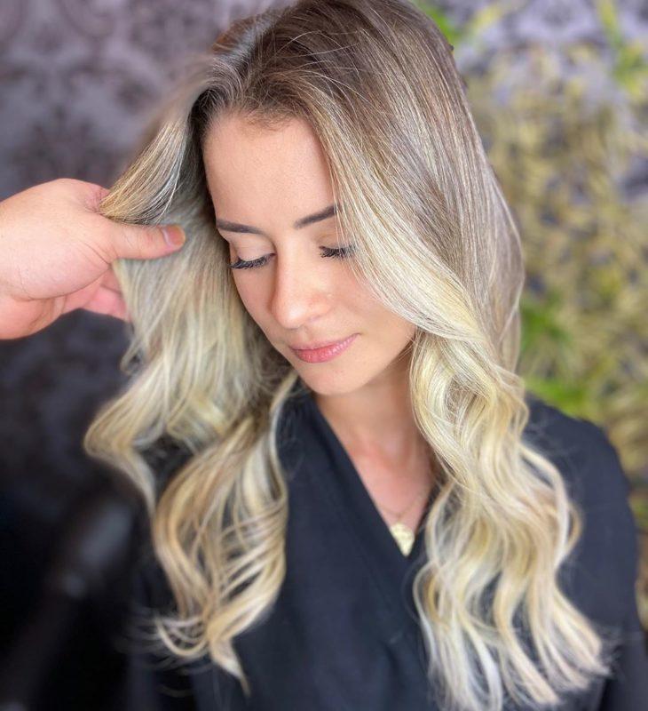 ombré hair platinado 48