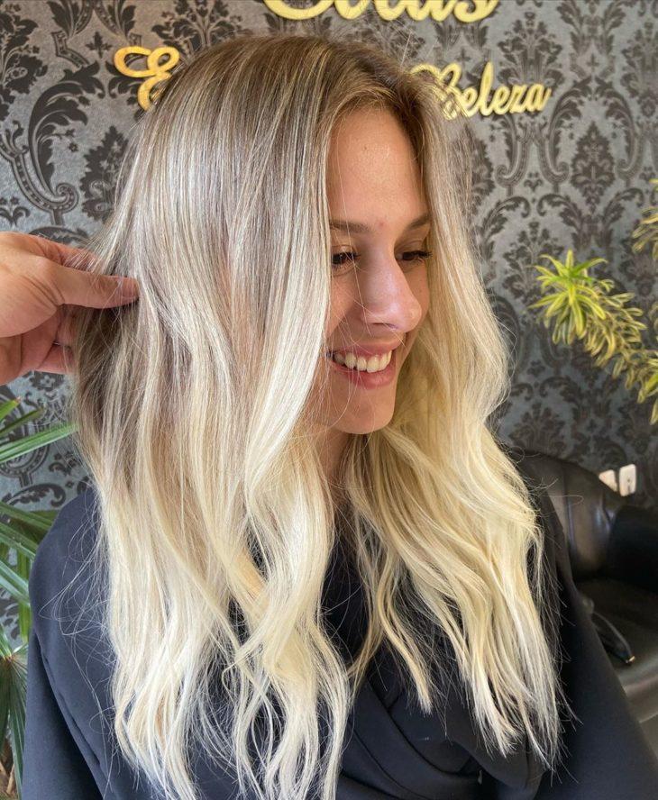 ombré hair platinado 51