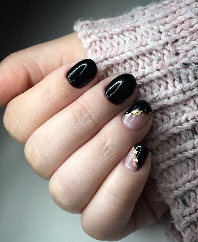 unhas pretas decoradas 15
