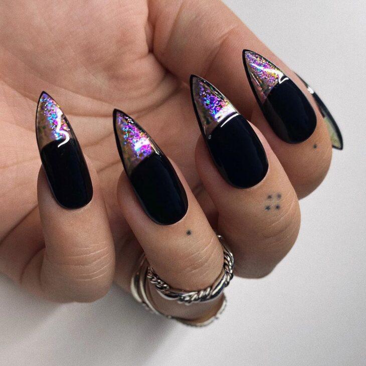 unhas pretas decoradas 49