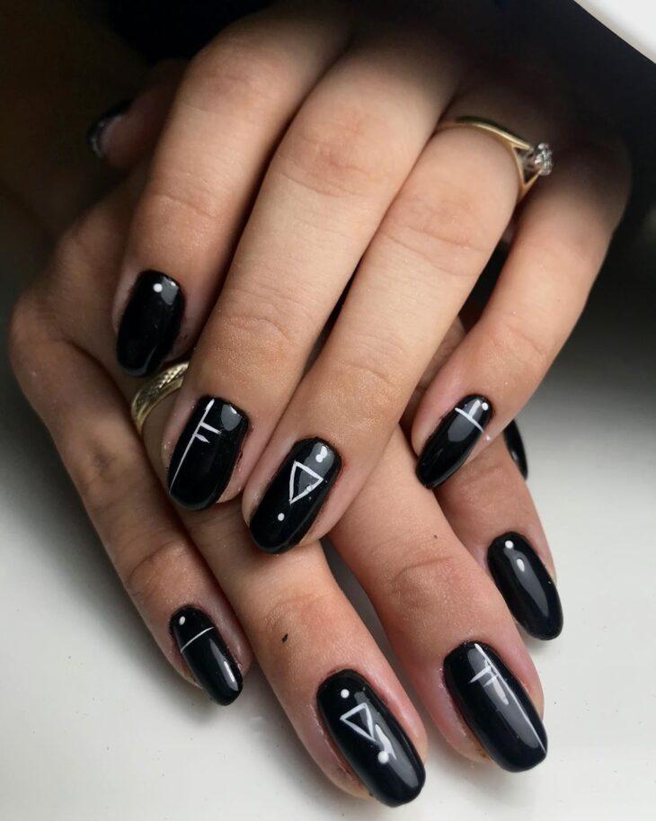 unhas pretas decoradas 52