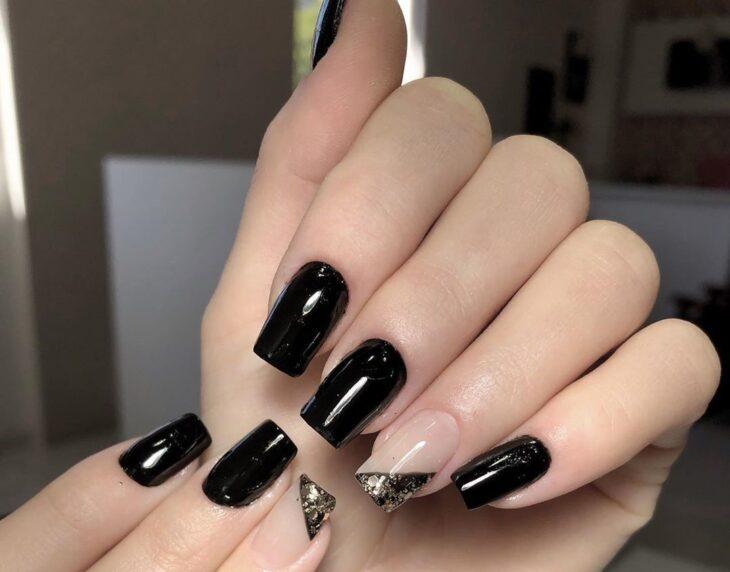 unhas pretas decoradas 56