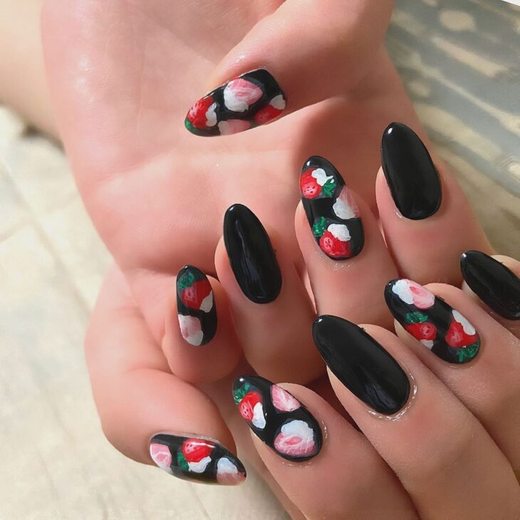 unhas pretas decoradas 58