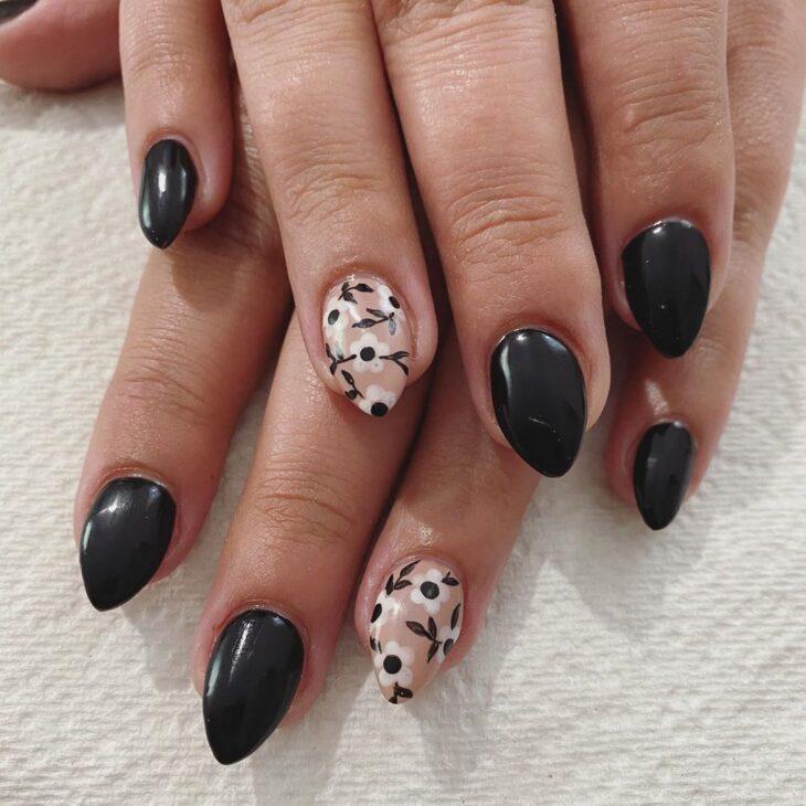 unhas pretas decoradas 81