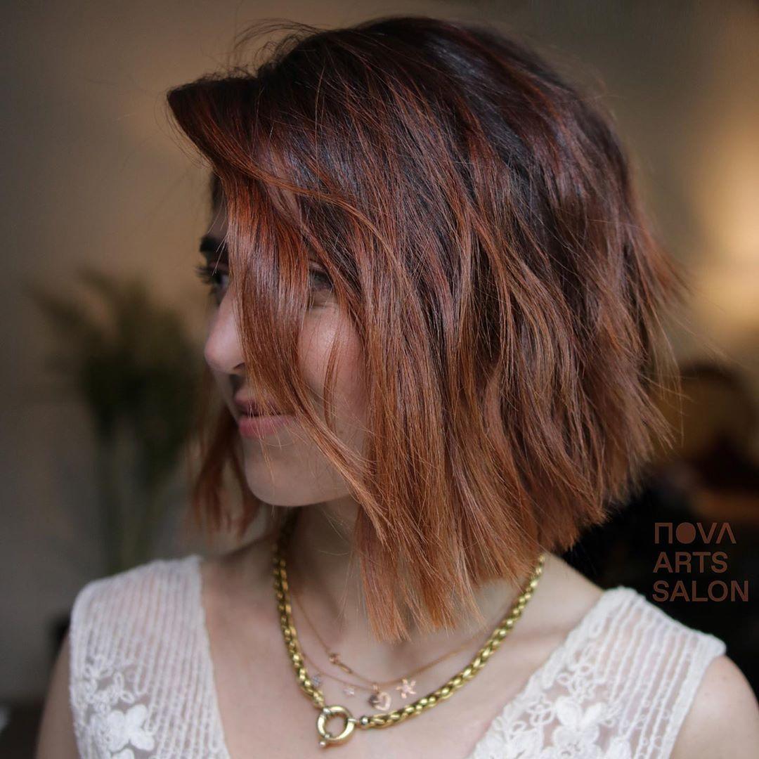 cabelo curto com mechas 31