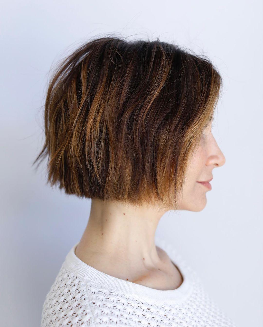cabelo curto com mechas 30