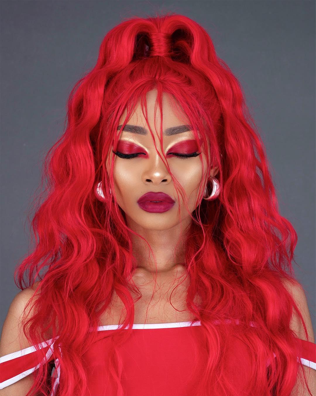 maquiagem com sombra vermelha 9