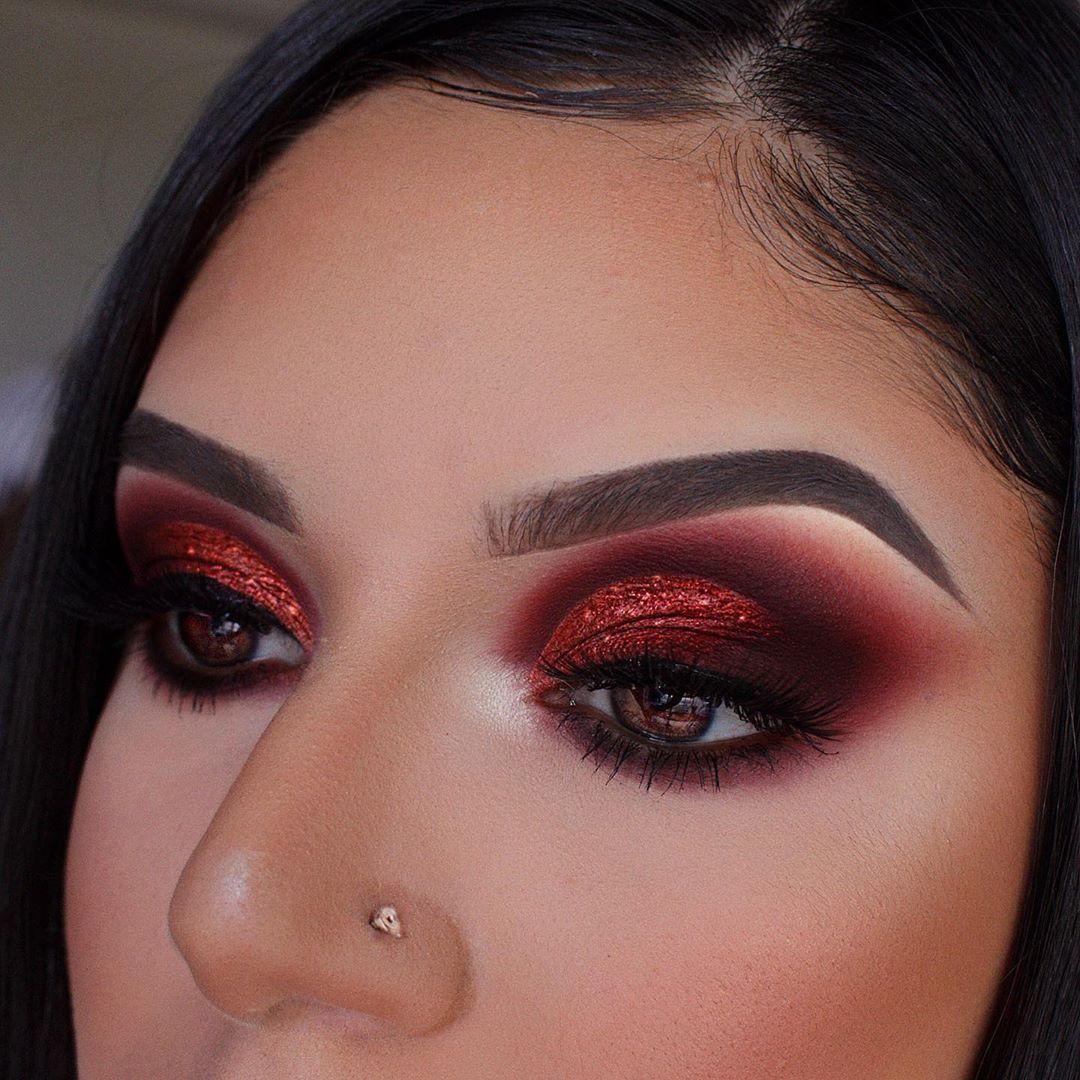 maquiagem com sombra vermelha 11