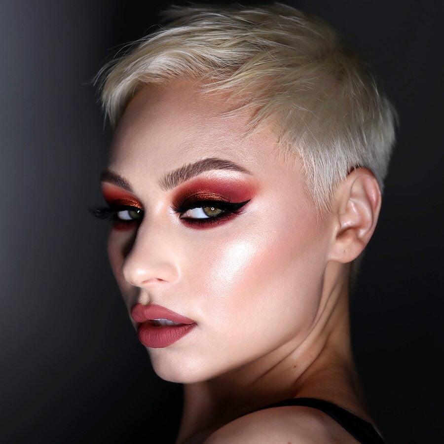 maquiagem com sombra vermelha 14