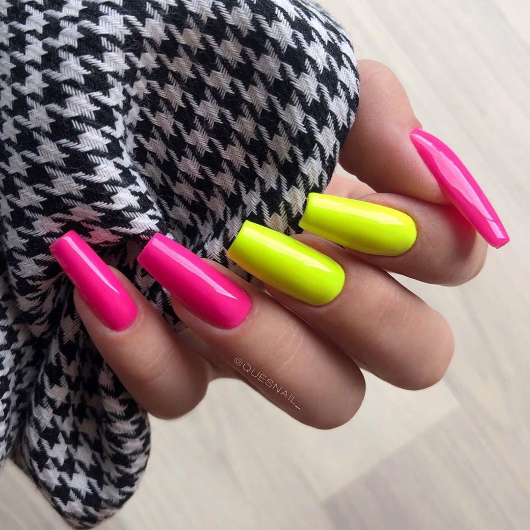 unhas neon 44