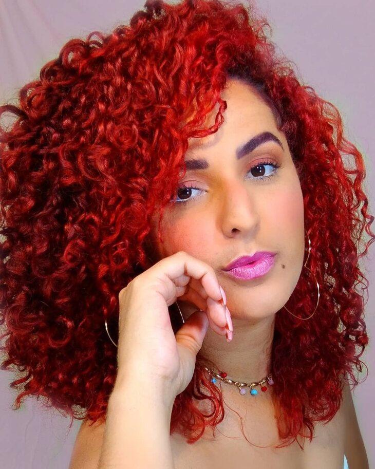 cabelo cacheado vermelho 25